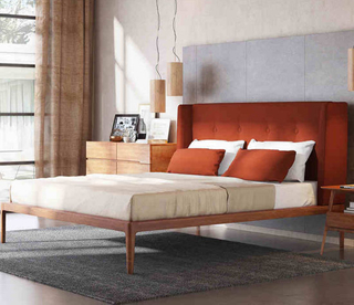 Solid Wood Double Hotel Luxury Bed Designs