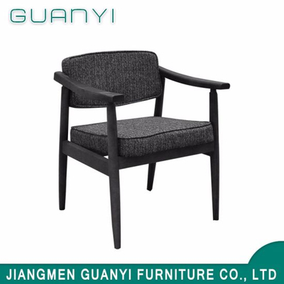 Fabric Wooden Dining Coffee Chair for Living Room Hotel Furniture