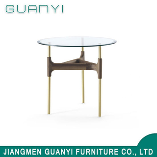 2019 Modern Wooden Furniture Glass Resaurant Coffee Table