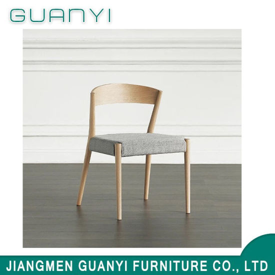 2019 Modern New Arrival Fabric Wooden Hotel Dining Room Chair