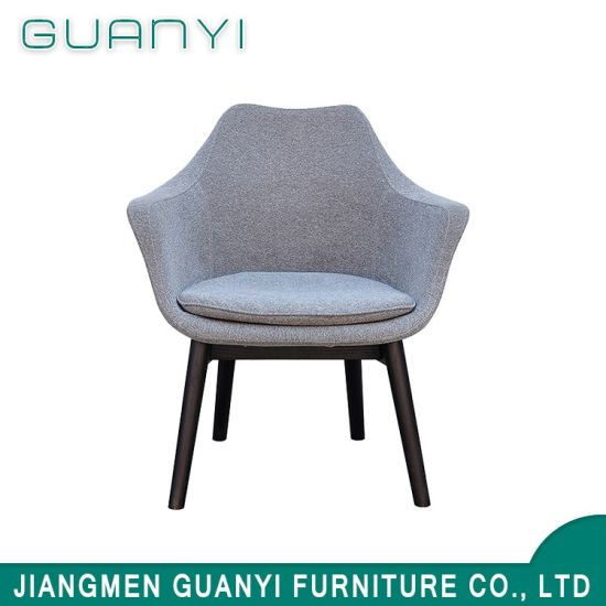 Modern Design Wood Legs Fabric Leisure Dining Room Chair