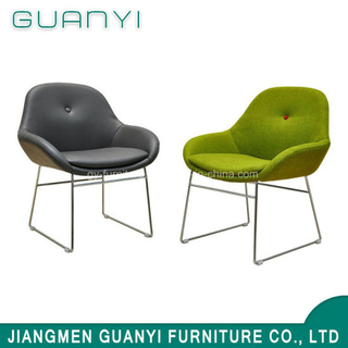 Stainless Steel Legs PU Leather Dining Chair Living Room Furniture