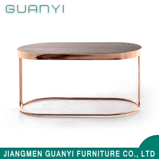 2019 Hot Sale Hotel Restaurant Golden Coffee Table
