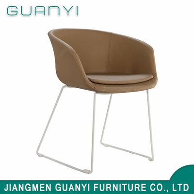 Soft PU Leather Seat with Metal Legs Dining Room Chair