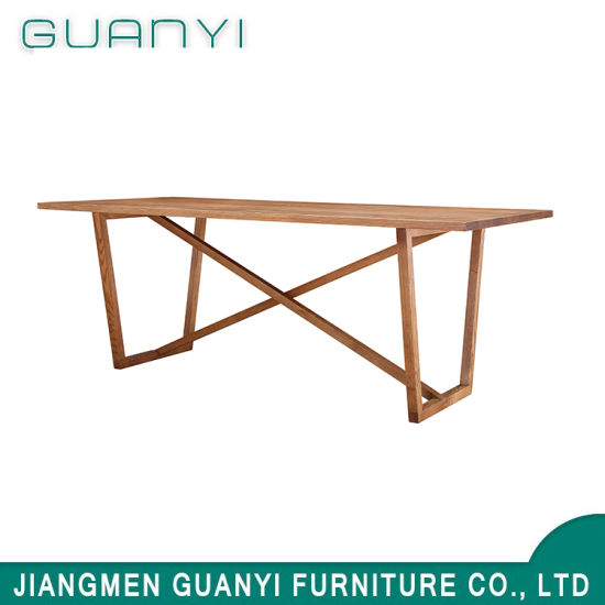 Simple Ash Wooden Living Furniture Dining Table