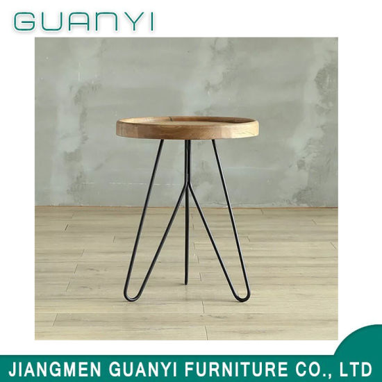 2019 Modern Metal Wooden Furniture Restaurant Cafe Table