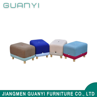 Stitching Fabric Colorful Wooden Square Stool