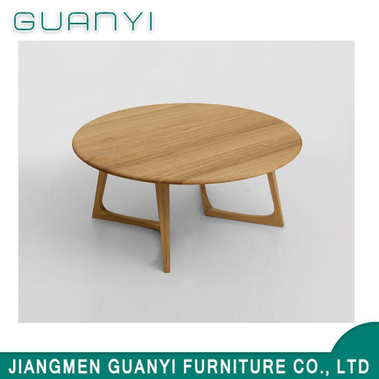 2019 Modern Wooden Furniture Round Cafa Hotel Table