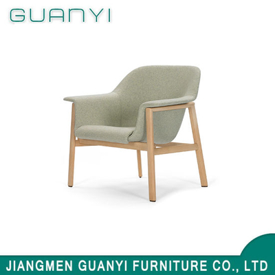 Simple Ash Wooden Furniture Leisure Fabric Armchair
