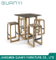 Fashion Square Wooden Furniture Kid Living Room Stool