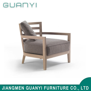 2018 Solid Wood Frame with Cushion Fabric Foam Seat Armchair