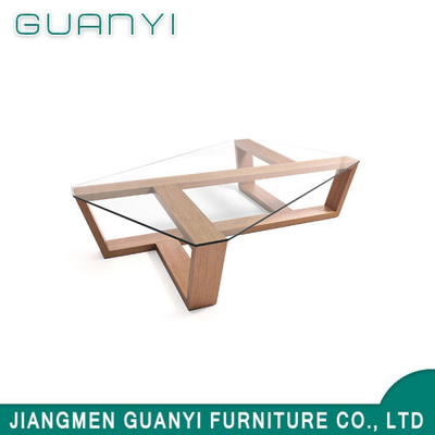 2019 Modern Wooden Furniture Glass Coffee Table