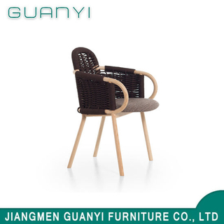 Solid Ash Wood with Fabric or Woven Rope Armchair