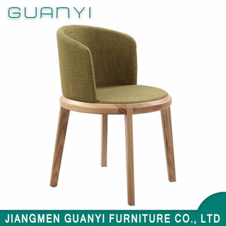 2018 Luxury Fabric High Back Wooden Leg Dining Room Chair