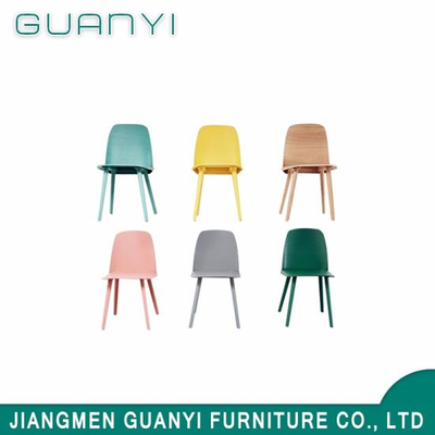Modern Outdoor Wood Gloss Colorful Bentwood Dining Chair