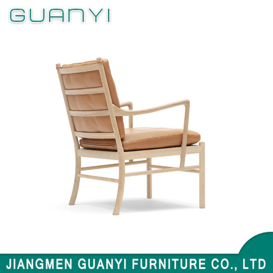 2018 Solid Ash Wood Frame with Fabric Seat Armchair