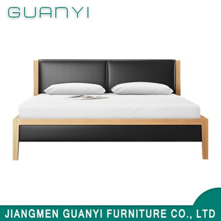 Practical Bedroom Furniture Space Saving Wooden Canopy Double Bed Design