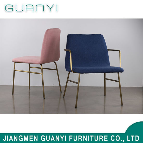 Commercial Golden Living Room Metal Furniture Chair