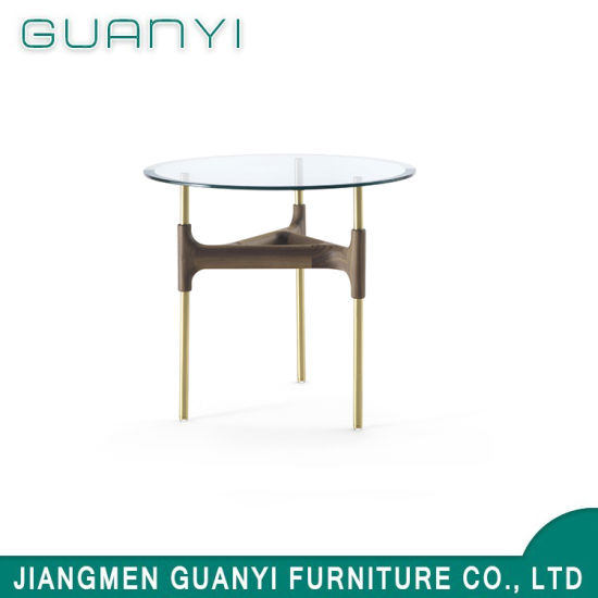 2019 Latest Modern Glass Top Round Coffee Table