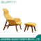 2019 Modern Wooden Furniture Leisure Chair with Stools