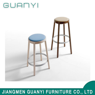 2019 New Fashion Natural Wooden High Bar Stool