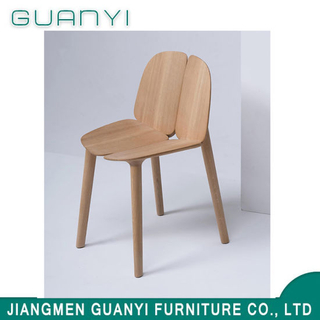 New Flower Shape Ash Wood Chair Home Dining Restaurant Chair