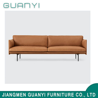 2019 Modern Metal Two Seats Leather Hotel Sofa Seats
