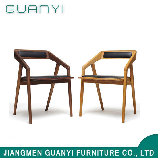 Modern Classical Ash Wood PU Seat Back Home Dining Chair